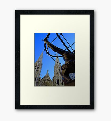 St. Patrick's Cathedral facing Atlas Shrugged - NYC Framed Print