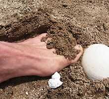 toes in the sand by WhiteDove Studio kj gordon