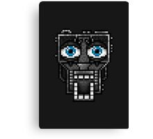 Five Nights at Freddy's 1 - Pixel art - Endoskeleton - Blue Canvas Print