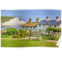 Coastguard Cottages - The Seven Sisters Poster
