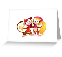 Monkey Buddies Greeting Card