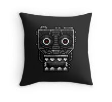 Five Nights at Freddy's 1 - Pixel art - Endoskeleton - Red Throw Pillow