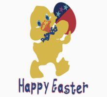 ㋡♥♫Happy Easter  Blue Eyed Chicken Clothing & Stickers♪♥㋡ by Fantabulous