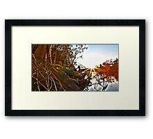 HDR Sunset Echuca Framed Print