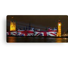 Parliament projection UNION JACK Canvas Print