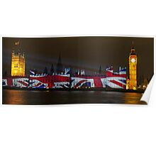 Parliament projection UNION JACK Poster