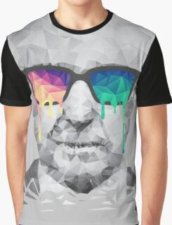 Albert Hofmann - Psychedelic Polygon Crystalised Portrait Graphic T-Shirt