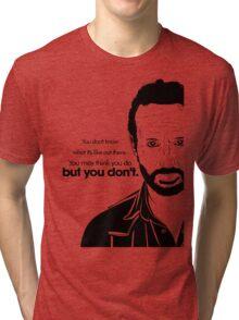 Rick's Famous Words (Black) Tri-blend T-Shirt
