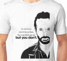 Rick's Famous Words (Black) Unisex T-Shirt