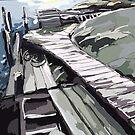 Donsö Horsika Piers by Rebecca Landmér