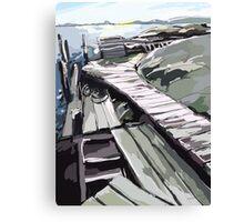 Donsö Horsika Piers Canvas Print