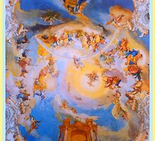 Ceiling fresco of the Wieskirche by ©The Creative  Minds