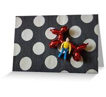 Man and Balloon Dog Greeting Card