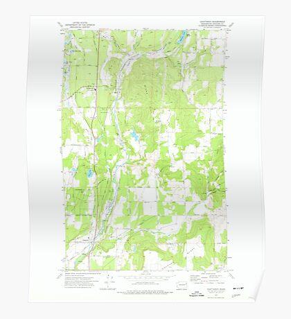 USGS Topo Map Washington State WA Chattaroy 240426 1973 24000 Poster