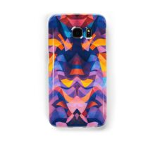 Abstract Surreal Chaos theory in Modern Blue / Orange Samsung Galaxy Case/Skin