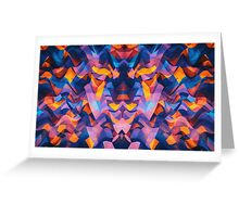 Abstract Surreal Chaos theory in Modern Blue / Orange Greeting Card