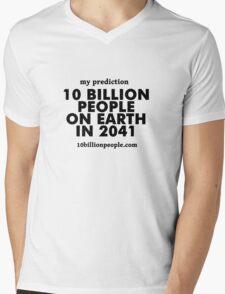 10 BILLION PEOPLE ON EARTH IN 2041 Mens V-Neck T-Shirt