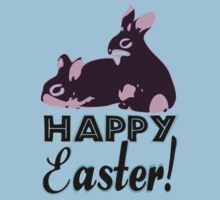 ㋡♥♫Happy Easter Bunny Clothing & Stickers♪♥㋡ Baby Tee