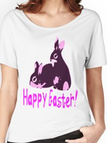 ㋡♥♫Happy Easter Bunny Clothing & Stickers♪♥㋡ Women's Relaxed Fit T-Shirt