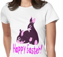 ㋡♥♫Happy Easter Bunny Clothing & Stickers♪♥㋡ Womens Fitted T-Shirt
