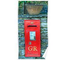 George V Postbox Poster