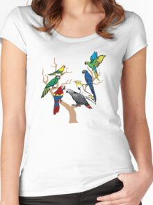 I Am Thankful For Parrots Women's Fitted Scoop T-Shirt