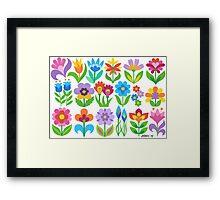 18 FANTASY FLOWERS Framed Print