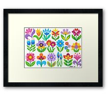 18 FANTASY FLOWERS Framed Print