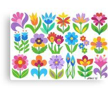 18 FANTASY FLOWERS Canvas Print