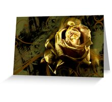 LIGHT PAINTED ROSE Greeting Card