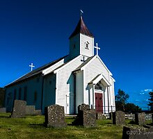 Hausken Church  by JohnnyJohnsen