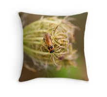 Turnip Sawfly Throw Pillow