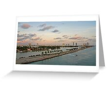 Let's go to Miami Beach Greeting Card