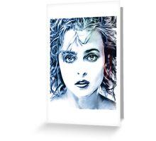 Helena Bonham-Carter portrait Greeting Card