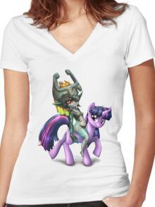 Twilight Princess Women's Fitted V-Neck T-Shirt