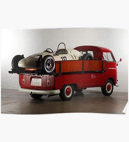 "VW T1 Bus PickUp ""Renntransporter"" 1964 Poster"