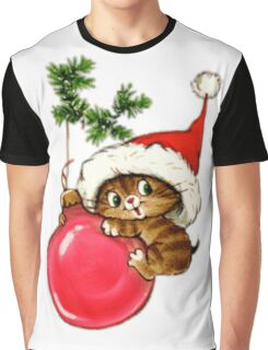 Cute Christmas Kitten  Graphic T-Shirt