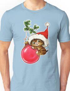 Cute Christmas Kitten  Unisex T-Shirt