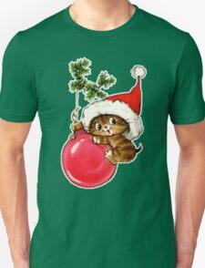 Cute Christmas Kitten  T-Shirt