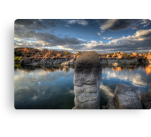 Down In Front Canvas Print