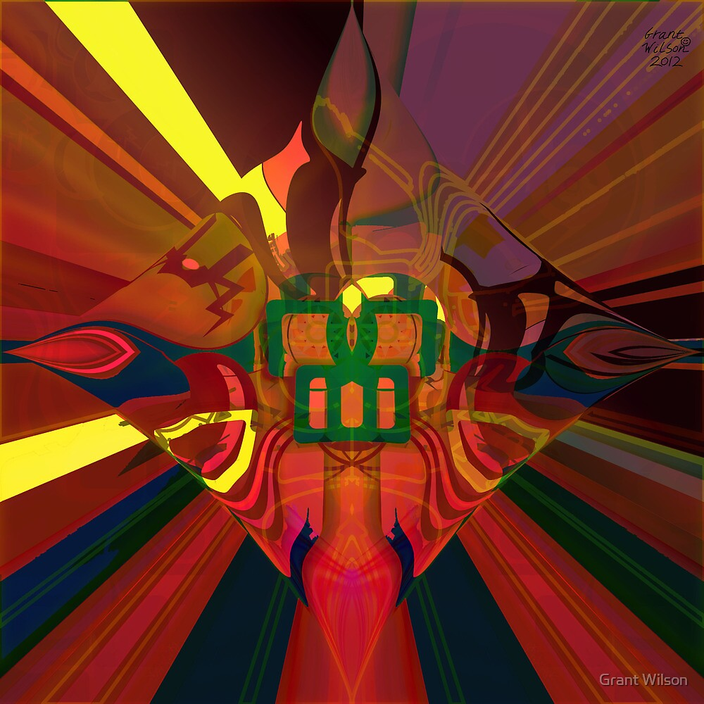 Abstract Light patterns version 2 by Grant Wilson