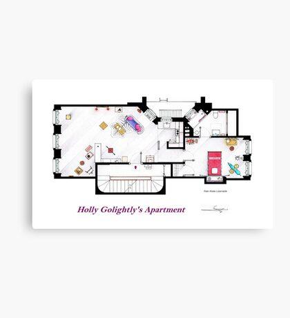 Breakfast at Tiffany's Apartment Floorplan Canvas Print