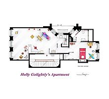 Breakfast at Tiffany's Apartment Floorplan Photographic Print