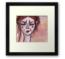 cheeky red elf Framed Print