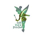 Tinkerbell Silhouette - Pixie Dust by MargaHG
