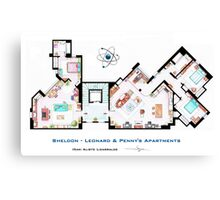 The Big Bang Theory Apartment Canvas Print