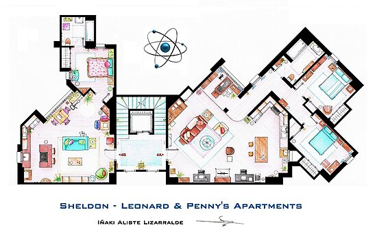 The Big Bang Theory Apartment by Iñaki Aliste Lizarralde