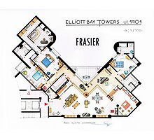 Frasier Apartment Floorplan Photographic Print