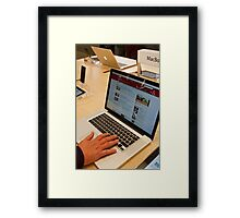 MacBook Pro at the New Bromley Apple store Framed Print