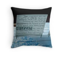 laundry (orbit)  Throw Pillow